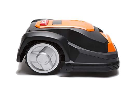 Yard Force Robot Tosaerba SA650ECO, Adatto per Prati Fino a 650 mq, Funzione Taglio Bordi e Motore Senza spazzole, 28 V, Nero/Arancione, QM