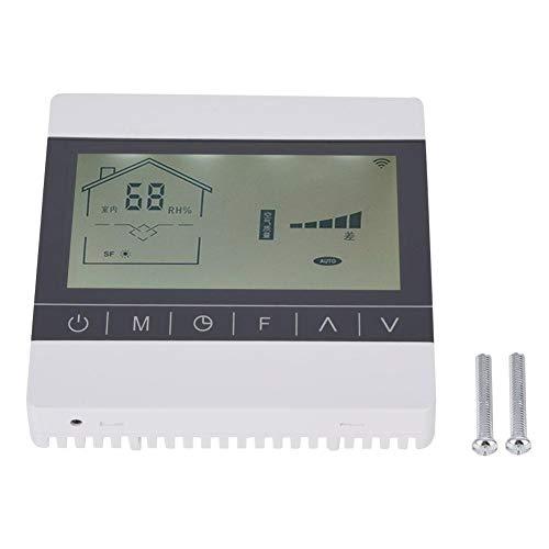 819RH 0-100 ° C LCD Programable Digital Inteligente Termostato de calefacción Controlador de temperatura inteligente ABS para el hogar