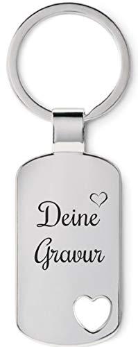 Schmalz Schlüsselanhänger Herz Coraz mit Wunschgravur-Süßer Schlüsselanhänger-ausgestanztes Herz-Personalisierbar-selbst individuell personalisiert anpassen
