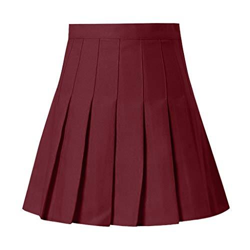 FOTBIMK Falda para mujer, de cintura alta, plisada, de moda, de cintura alta, falda de tenis, falda corta, plisada, falda de tenis