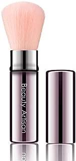 FEARLESSBOOM Retractable Kabuki Makeup Brush Travel Powder Foundation Brush For Powder, Blusher,Cosmetic (pink)