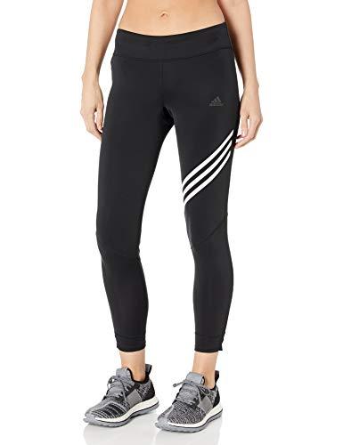 adidas Damen Run It 3 Stripes 7/8 Tight Women Tights Medium Schwarz