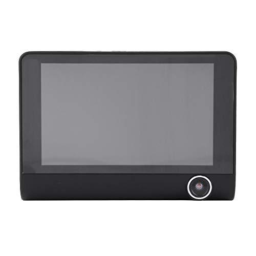 Cámara de tablero, 4 pulgadas 1080P HD 3 Lente DVR para automóvil Grabador de conducción de video Cámara de tablero Cámara de visión trasera Visión nocturna