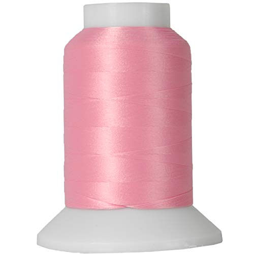 Threadart Wooly Nylon Thread - 1000m Spools - Color 9110 - PINK - Serger Sewing Stretchy Thread - 50 Colors Available