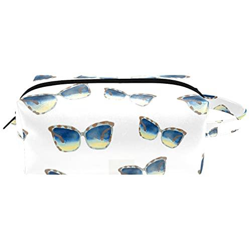 Gafas de sol de viaje Artículos de tocador bolsa de cosméticos para mujer microfibra cuero maquillaje práctico bolsa organizador con cremallera
