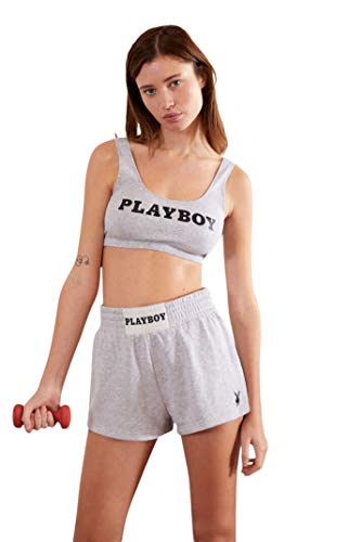 PacSun Playboy Women's Legend Active Sports Bra - Gray Size Small