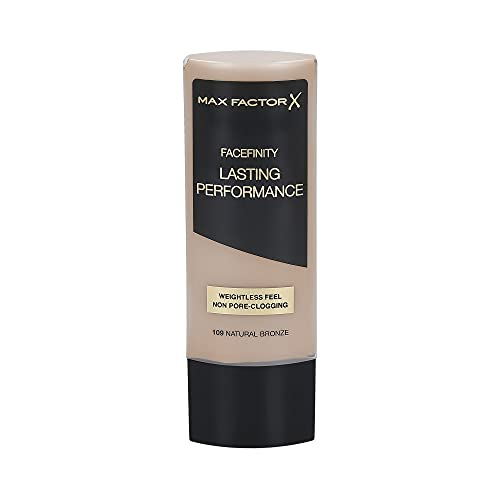Max Factor Lasting Performance, base de maquillaje, 109 (bronce natural), 35 ml