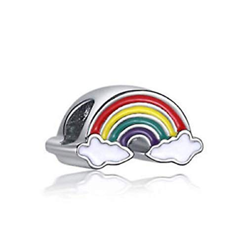 EVESCITY(TM) - Abalorio para Pulsera, diseño de Orgullo arcoíris