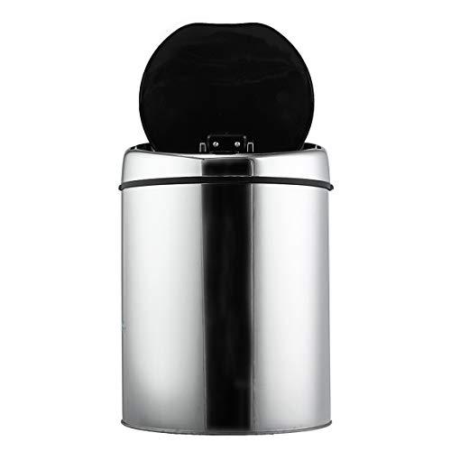 TuToy 3/4/6L Acero Inoxidable Redondo Sensor De Basura Sin Touchless Movimiento De Apertura Automática Contenedores De Residuos De Reciclaje - 6L