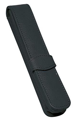 Online 90758 Lederetui für 1 Schreibgerät, schwarz