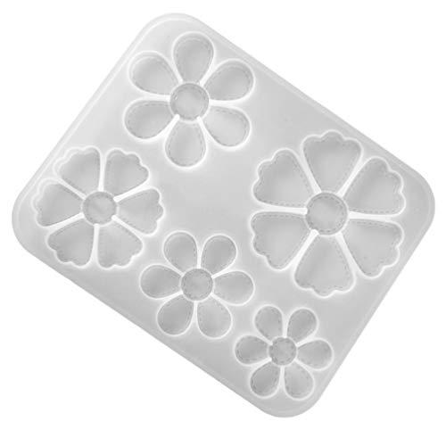 EXCEART Blumen silikonformen Harz Form Harzguss Blumen Fondant Ausstechform Kuchen Fondant Dekorieren für DIY Handwerk Schlüsselbund Halskette Projekt Wohnklutur
