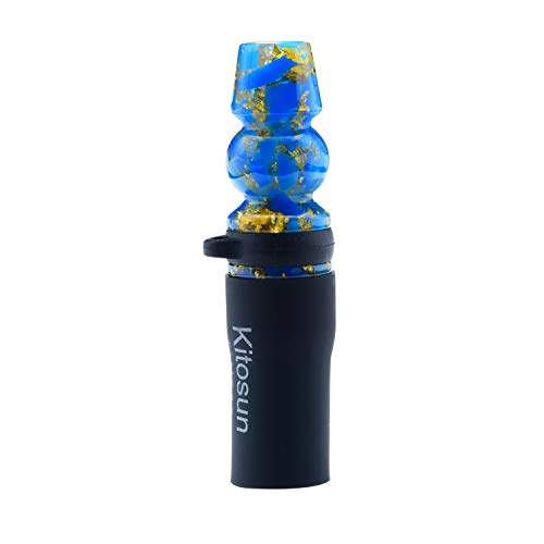 Afoosoo Juego de puntas para cachimba Narguile Crowd de lujo con elegante correa de piel exclusiva VIP para que salga de la shisha Narguile Crowd (azul)