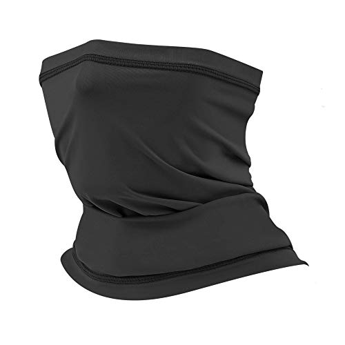 AstroAI Neck Gaiter Face Mask Dustproof UV Protection Neck Mask for Men Women Cooling Scarf Lightweight Breathable Face Cover Bandana for Running, Fishing, Hiking, Cycling, Black