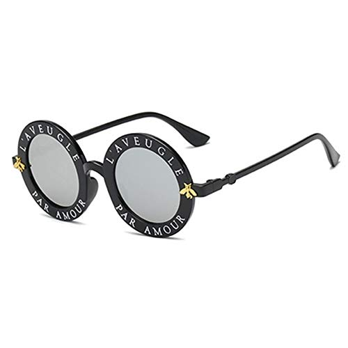 Gafas de Sol Vintage de Las Sombras de la Pendiente más Nuevo Gafas de Sol Retro Gafas de Sol UV400 Ronda (Lenses Color : 79 3)