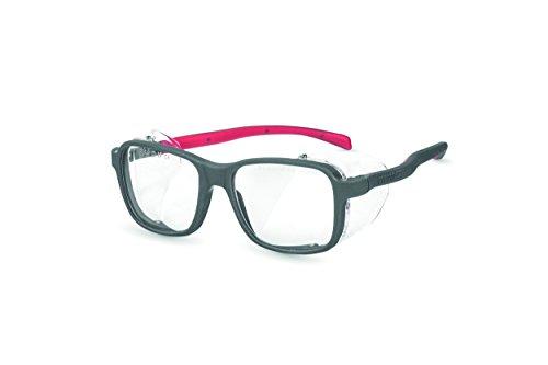 PEGASO 2009 2009-Gafas Proteccion Gama GRADUABLES Neutra Modelo Europa Lente PC Antivaho, Gris Y Rojo, L ✅