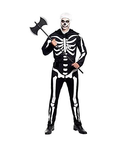 Hipex Collection Disfraz de Cosplay para hombres, Halloween, Carnaval, Fiestas, Disfraces Adultos Hombre (Soldado Skull, L)