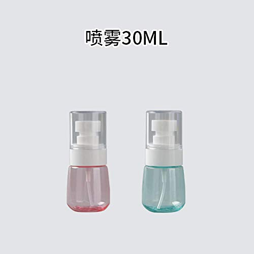 LIUJUAN Vaporisateur Flacon Pulvérisateur Ultra-Fin Brume Fine Maquillage du Visage Toner Hydratant Petit Arrosoir Flacon Vide Flacon Divisé-Flacon Pulvérisateur 30Ml Poudre + Vert (Pack De 2)