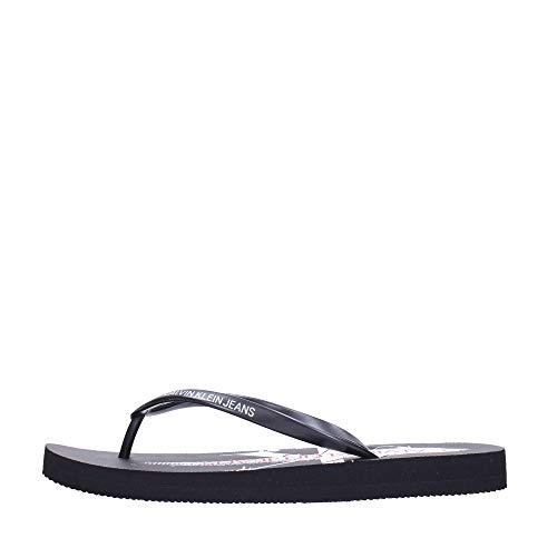 Calvin Klein Jeans Dorinda Chanclas Negras para Mujer-UK 4 / EU 37