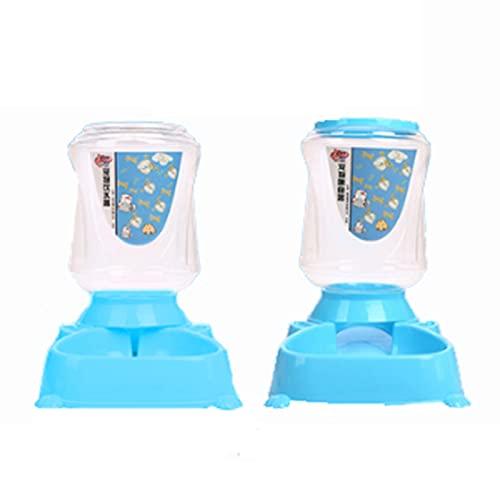 MGJX Juego De Alimentador Automático, Bebederos De Plástico Seguros De Gran Capacidad Para Mascotas, Alimentador Automático Para Gatos Y Perros, Cuenco De Agua Para Mascotas, Cuenco De Agua Para Masco