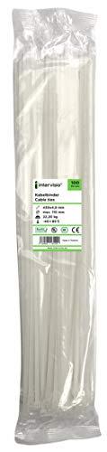 Kabelbinder Extra Lang weiß - 430mm x 4,8mm, weiss, natural, 100 Stück