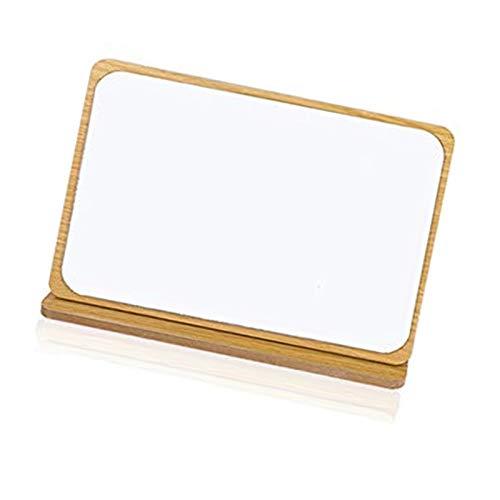 Espejo de escritorio plegable de madera con el rectángulo de mesa ajustable vertical