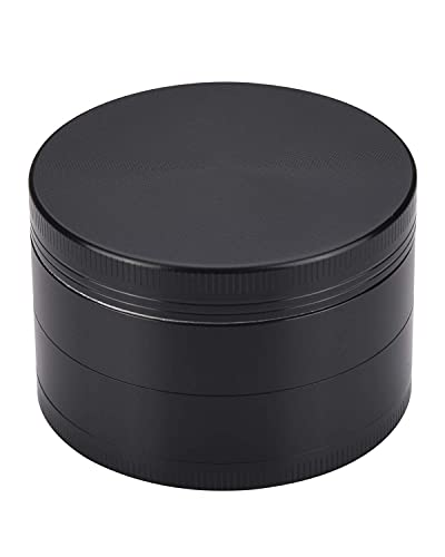 WEGRIND Grinder, Spice Crusher, 2 inch 4 Pieces Zinc Alloy Grinders - black