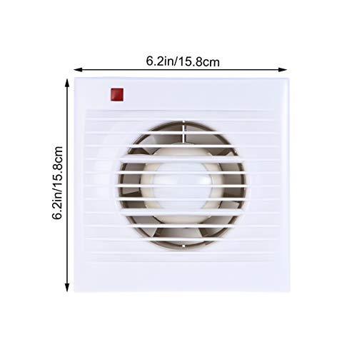 Vosarea KHG-100 Mute Wall Extractor Exhaust Fan Window Waterproof for Bathroom Kitchen Toilet (4inch)