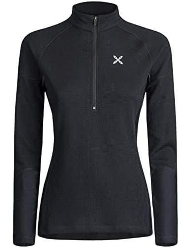 MONTURA thermic 3 - Camiseta de mujer MMZP59W 90, color negro, camiseta técnica de mujer, ideal para actividades al aire libre como senderismo, escalada, alpinismo, esquí y alpinismo, Negro , XL