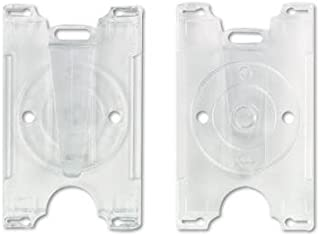 BadgeMates Badge ID Card Holder, Horizontal/Vertical, 4w x 3h, Black, 25/Pack