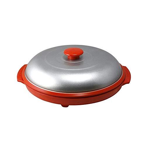 WWVAVA Mikrowellen-Grillpfanne Mikrowellen-Crisper-Platte mit Deckel für die Küche Mikrowellen-Koch-Grillofen Verwendung, rot