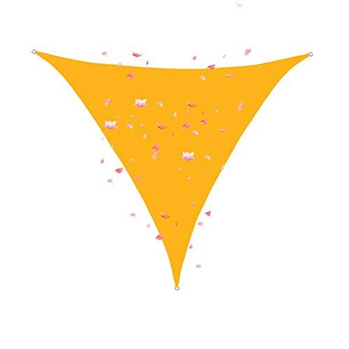 FOGUO 6x6x6m Sonnensegel Wasserdicht Dreieck, Sonnenschutz Segel Dreieckig, Sonnenschutz Wasserabweisend Polyester für Garten Und Balkon