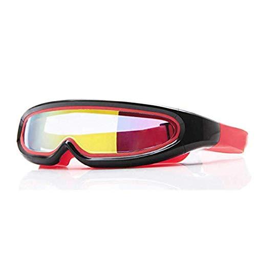 fyhtydsr Summer Goggle Einteilige Schwimmbrille mit verspiegelter Schutzhülle für Erwachsene Schnorchelmaske Tauchbrille