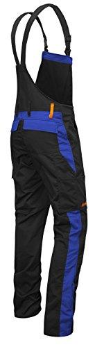 strongAnt strongAnt - Männer Arbeits-Latzhose mit Kniepolstertaschen Berlin Kombi-Hose - Made in EU - Größe: 94, Farbe: Schwarz-Blau