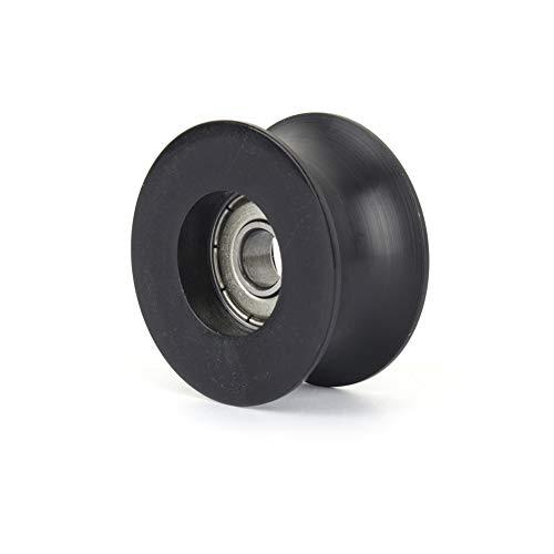 Rodamiento de bolas con ranura tipo U, funcionamiento suave Polea con ranura en U Resistente para llevar para ventanas para equipos mecánicos para puertas