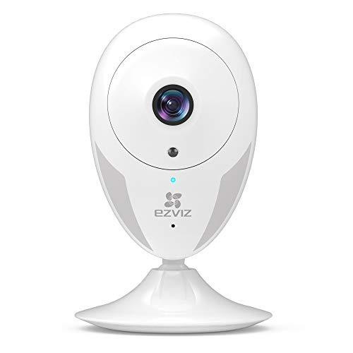 EZVIZ Indoor Security Camera 1080p FHD Motion Alert Night Vision Baby/Pet/Elder Monitoring 135° Wide Angle 2.4G Wi-Fi 2-Way Audio Smart Home IPC Works with Alexa Google IFTTT iOS Android App WH CTQ2C