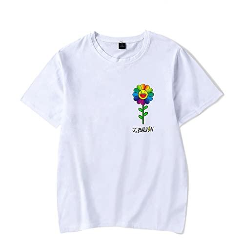 CCEE Nueva Camiseta De Girasol J Balvin Colores Camiseta Hombres Mujeres Tendencia De Moda Harajuku Camiseta Verano Cuello Redondo Parejas Camiseta Unisex Tops