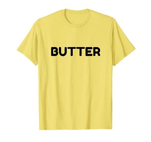 Divertido disfraz de fiesta de Halloween con mantequilla Camiseta