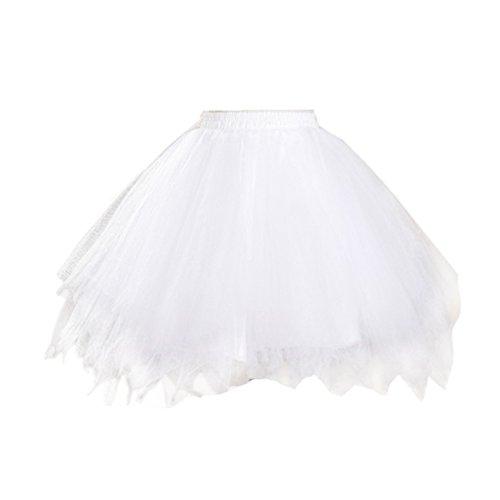 Honeystore  Damen's Tutu Unterkleid Rock Abschlussball Abend Gelegenheit Zubehör , Einheitsgröße, Weiß