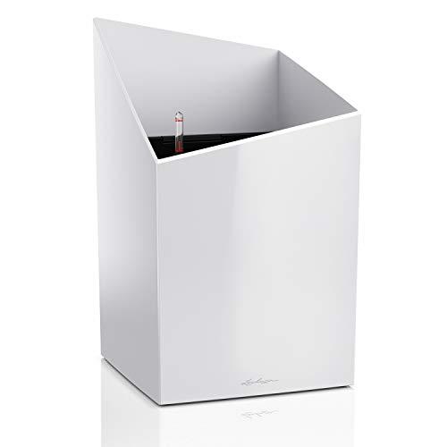 Lechuza – Kit complet d'Interieur – Premium Cursivo – Réserve d'Eau Intégrée – Coloris Blanc – 30 x 30 x 49 cm
