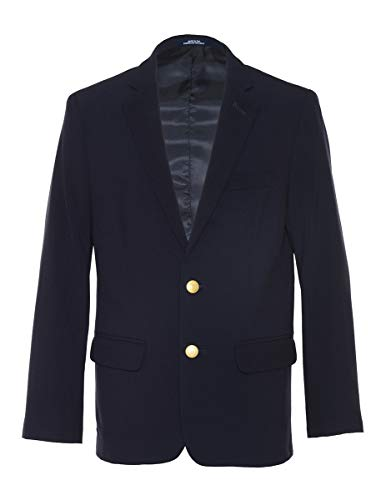Chaps Boys' Big Formal Blazer Jacket, Navy, 16