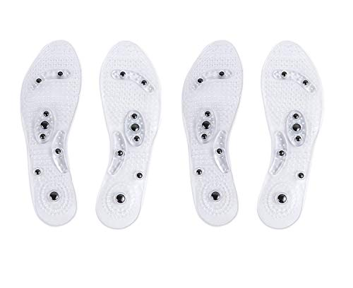 Winthai Euphoric Feet Einlegesohle,Akupressur Einlegesohlen, 2 Paar Magnetische Massage Schuheinlagen Pad Therapie Akupressur Fußpflege Kissen für Männer