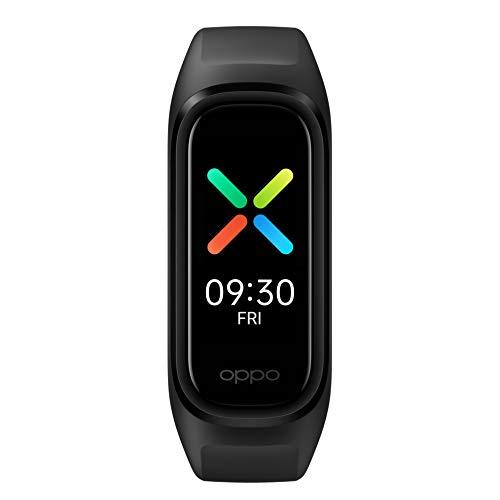 OPPO Band Sport - Bracelet Connecté - Trackers d'Activité 12 Modes Sportifs - Bracelet Sport Unisexe - Suivi du Sommeil - Jusqu'à 12 Jours d'Autonomie - Mesure Cardiaque et Oxymètre 24h/24 - Noir