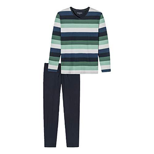 Schiesser Herren Schlafanzug Lang Pyjamaset, grün, 052