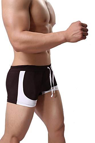 Targogo Zwembroek voor heren midden in de taille Zwembeen Vierkante kleding Trunks Sport Onder Warme Shea Broek Onderbroek met Trekkoord