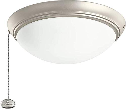 Kichler 338200NI, Low Profile LED Fixture, Cased Opal Glass