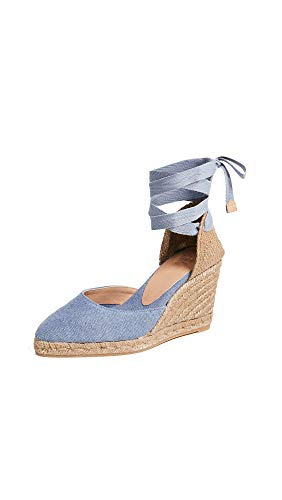 Castaner Women's Joyce T Wedge Espadrilles, Jeans, Blue, 35 M EU