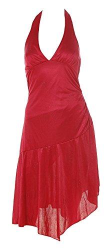 Melrose Damen Abendkleid Kleid Neckholder Coktailkleid Strass 36 rot