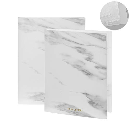 Xuntung A4 Office Supplies Multi -Layer Muster von Marmor Klassifizierung von Papier Sammlung von Alben Office Bag Paper Protektoren Holder Datei Datei Ordner(10pages)