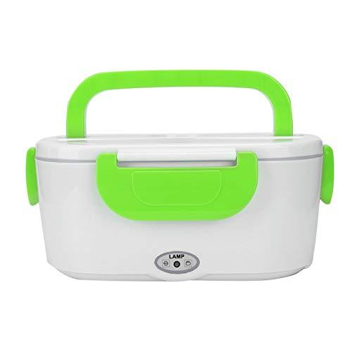 Kadimendium Fiambrera Conveniente para el Medio Ambiente, Ahorro de energía, Fiambrera para calefacción, envase de Comida eléctrico, Viaje al Aire Libre para Coche(Green)