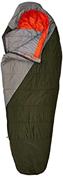 Kelty Cosmic Synthetic Fill 40 Degree Backpacking Sleeping Bag Long – Compression Straps Stuff Sack Included